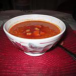 recette velouté carottes,  pois chiches du blog  une cuisine pour voozenoo