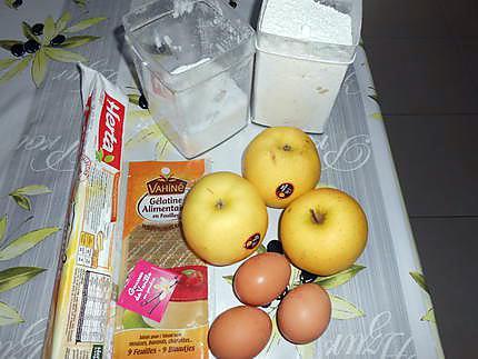 Tarte aux pommes vanille creme mousseuse 430