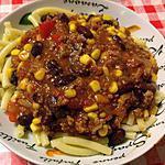 recette Pâtes aux chili con carne