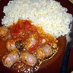 recette Saucisse de Toulouse à la tomate