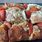 recette Pain farci chorizo, fromages, lardons