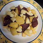 recette Salade  froide de pomme de terre au magret canard fumé