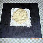 recette Filets de poulet à la crème fraîche, moutarde et champignons.