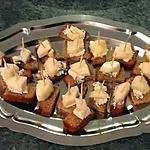 recette Toasts pain d'épices poire roquefort