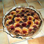 recette Tarte à l'abricot et gelée de groseille.