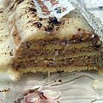 Bûche chocolat blanc - praliné