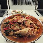 recette Cuisse de poulet façon basquaise
