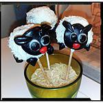 recette les pop cakes moutons
