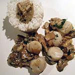 recette Noix de Saint-Jacques aux cèpes
