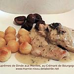 recette Suprêmes de Dinde aux Morilles, au Crémant de Bourgogne