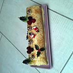 recette buche framboise  , chocolat blanc
