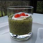 recette Soupe de kiwi au chocolat blanc