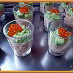 recette Verrine mousse d'avocat saumon