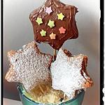 recette sucette étoile au cacao garni de crème de marron vanillé