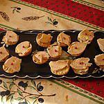 recette mini toast croustillant de foie gras et confit d'oignon