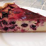 recette cheese-cake aux fruits rouges et à l'orgeat