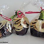 recette Les mendiants chocolat blanc et chocolat noir