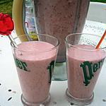 recette * Milk shake à la fraise *