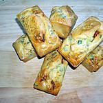 recette Minis-cakes chorizo / poivron / tomate séchée (apéritif)