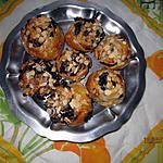 recette Escargots feuilletés improvisés , choco-amandes