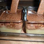 recette poires, et gavottes à la mousse de pralinoise