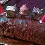 recette Buche chocolat fourré mascarpone crème de marron
