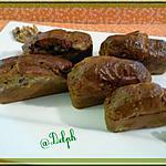 recette Mini cakes roquefort, noix et lardons fumés.