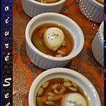 recette Petites verrines d'œuf de caille en gelé au Porto