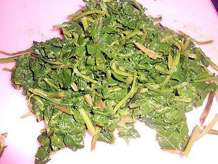 Jambon au vert de blette gratiné 430