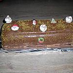 recette buche chocolat amandes et poires