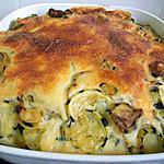 recette gratin pommes de terre-courgettes