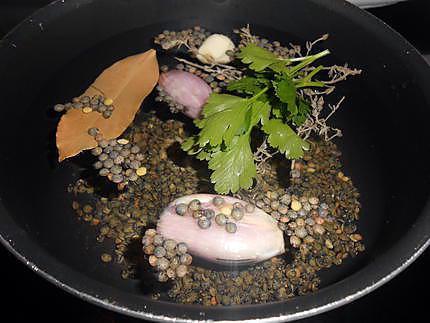 Cotechino lentilles et foie gras 430