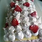 recette roulé mousse fraise et son croustillant chocolat blanc