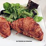 recette Croissants jambon fromage