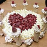 recette Vacherin glacé vanille / framboise