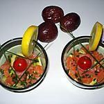 recette Verrines de saumon et avocat