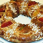 recette Gâteau des rois aux fruits confits