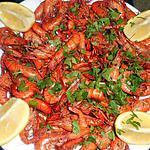 recette Poelée de crevettes bouquet flambée au calvados