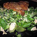 recette assiette    flan thon    mache kiwi reste foie  gras