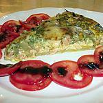 recette Tarte aux deux saumons ,à la pulpe de basilic et camenbert gratiné