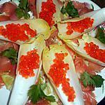recette Salade d endives au saumon fumé et oeufs de saumon