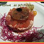 recette Tartare  de thon  et tomates et sa gelée  de balsamique
