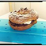 recette paris brest à la mousse au chocolat praliné et chantilly