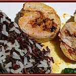 recette Roulé de dinde au riz sauvage et crème de chorizo