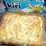 recette gratin de pate jambon et fromage ( kiri )