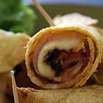recette Roulés bacon - mozzarella - tomate séchée