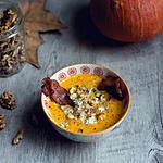 recette Soupe d'hiver au butternut, bacon et gorgonzola