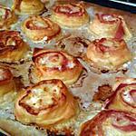 recette Roulé feuilleté jambon mozzarella