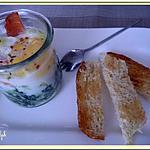 recette Oeuf cocotte épinards, ricotta, truite
