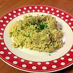 recette Cubes de poulet au curry et riz